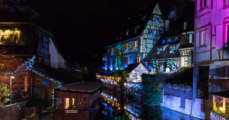 Iluminación navideña en Colmar y Estrasburgo