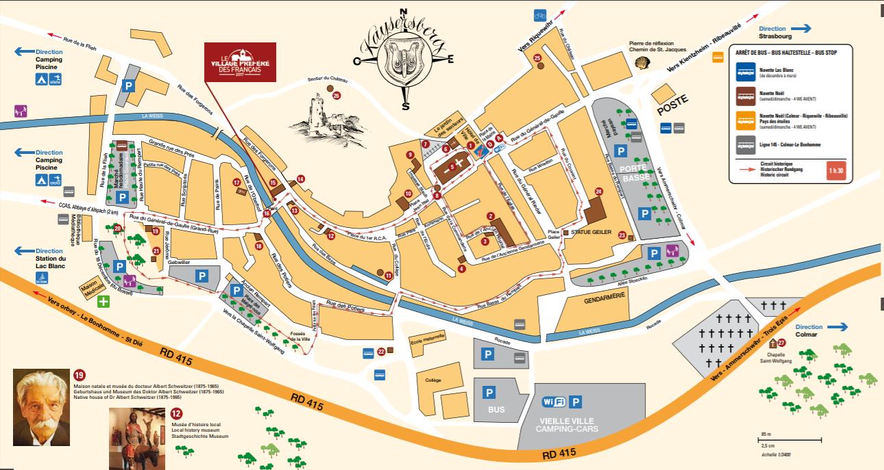 mapa de Kaysersberg