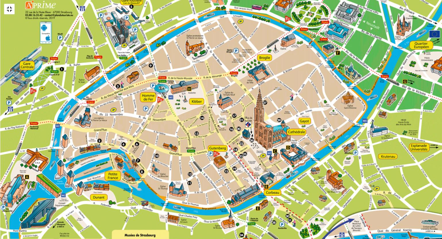 Mapa Turístico Estrasburgo